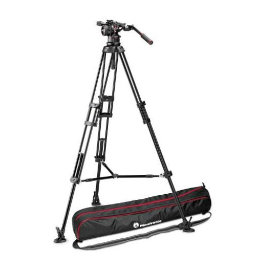 Nitrotech N12 video head w/ Twin leg tripod middle spreader