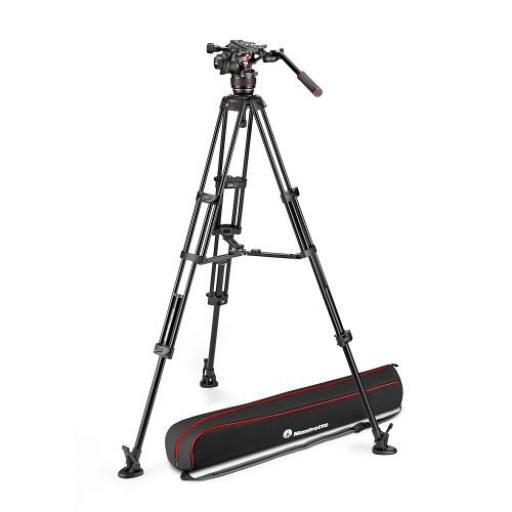 Nitrotech 608 Video Head, Alu Twin Leg Tripod MS