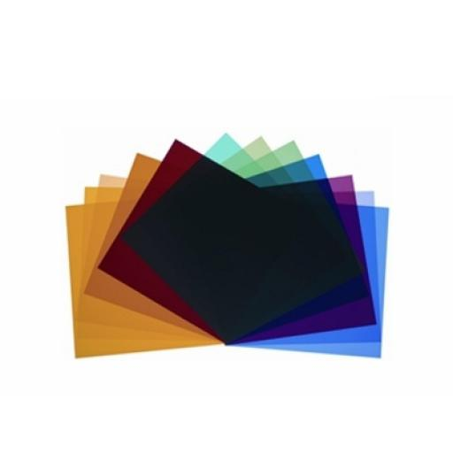 Colour filters for P65, P45, PAR and background reflector, set of 12 pieces