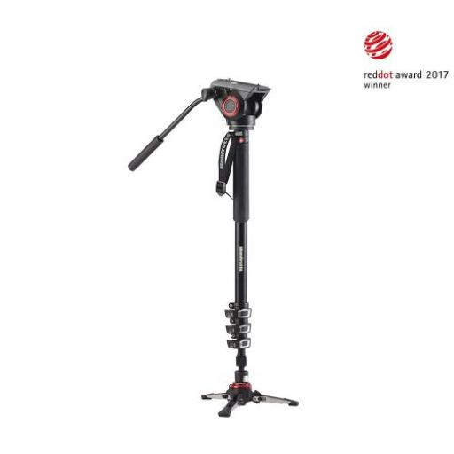 XPRO 4 Section Video Monopod w Fluid Head & FLUIDTECH Base