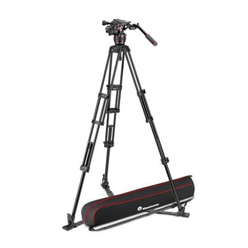 Nitrotech 608 Video Head, Alu Twin Leg Tripod GS