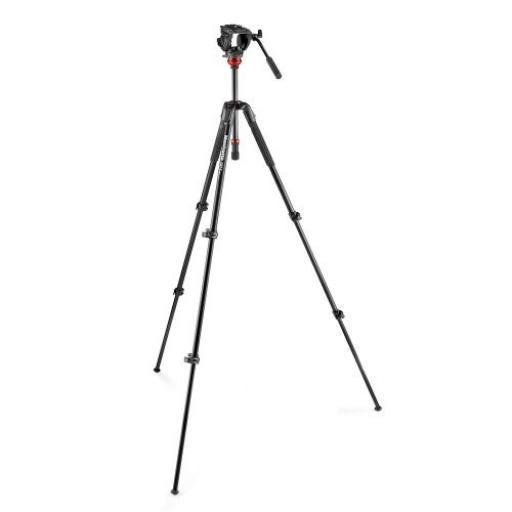 500 Fluid Video Head Flat Base with 190X Video Alu Tripod