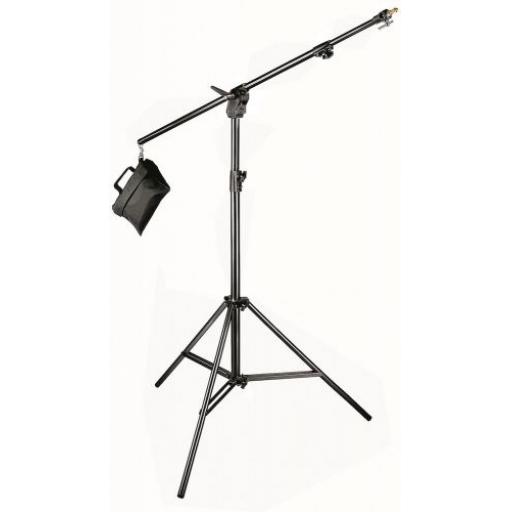 Manfrotto Combi-boom stand Black Aluminium with Sandbag