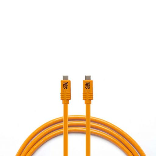 TetherPro USB USB-C to USB-C for Phase One IQ4, 15' (4.6m) Orange