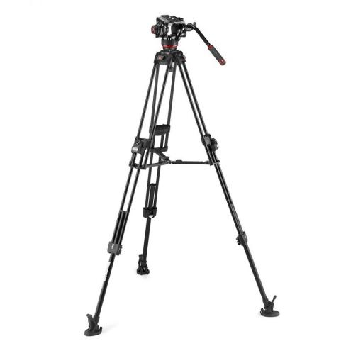 Manfrotto Fluid Video Head with 645 Fast Twin Alu Tripod