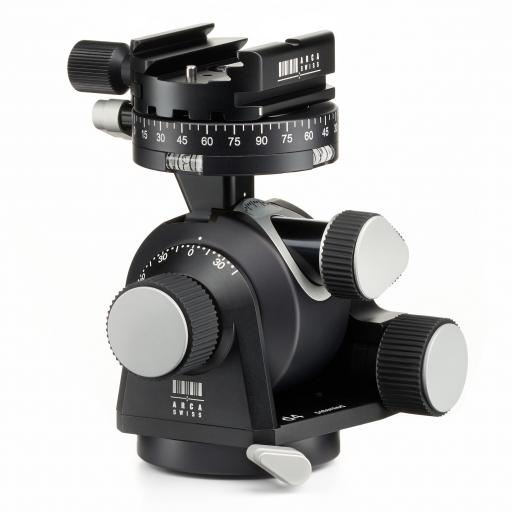 Arca Swiss D4 Geared Tripod Head with Quickset Classic Device