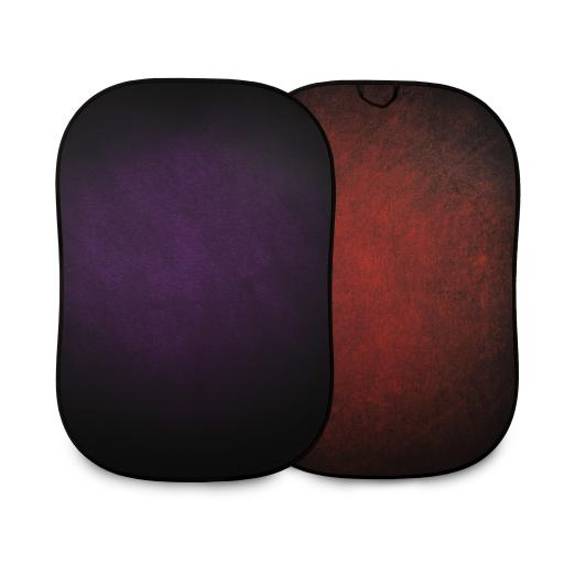 Lastolite Vintage Collapsible 1.5 x 2.1m Aubergine/Crimson Double Sided