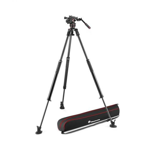 Manfrotto Nitrotech 612 series with 635 Fast Single Leg Carbon Tripod (With a FREE 2 in 1 Tripod Spreader)