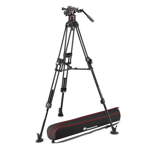 Manfrotto Nitrotech 612 series with 645 Fast Twin Alu Tripod (With a FREE 2 in 1 Tripod Spreader)