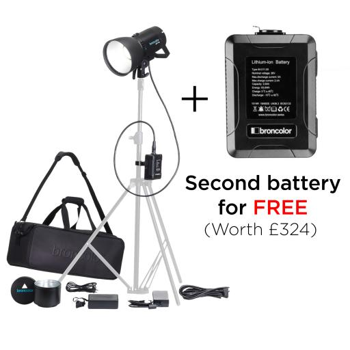 Broncolor LED F160 Versatility Kit - Buy this kit and get a 2nd battery for free! (Special Limited Time Offer)