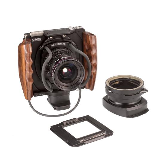 Cambo WRS-1250 + Rodenstock 4.0/35 Digaron-S + SLW-Interface + WRS-HVSA Shutter Activator for Hasselblad