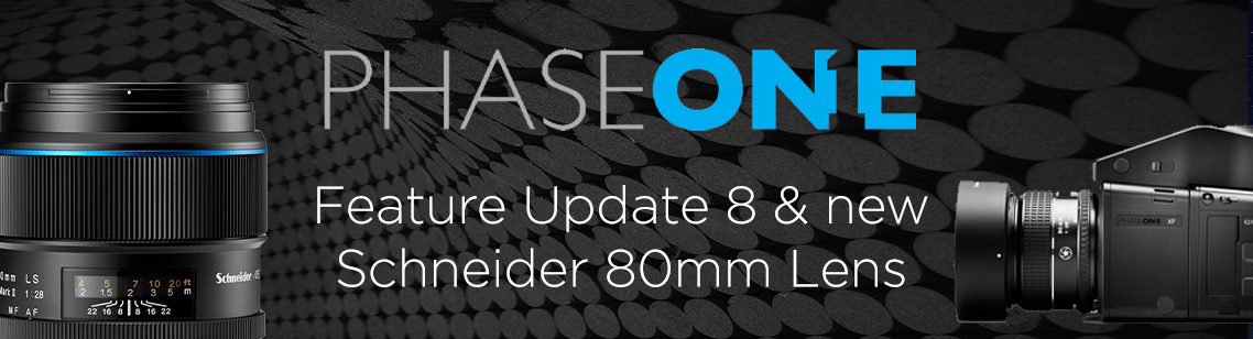 Phase One Feature Update 8 - Improvements to the XT, XF,  IQ4 +  a NEW Blue Ring Lens