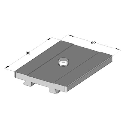 "Arca Swiss Classic 3/8 ""quick release plate, Length 80 mm x Width 60mm"