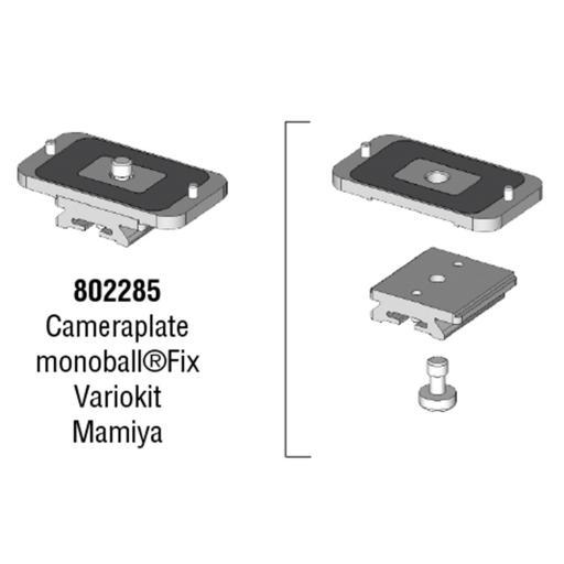 Arca Swiss MonoballFix Mamiya Variokit Plate, Long. 40mm x Width. 58mm