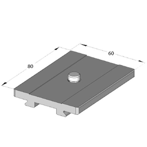 "Arca Swiss Quick plate Classic 1/4 "", Length 80 mm x Width 60mm"
