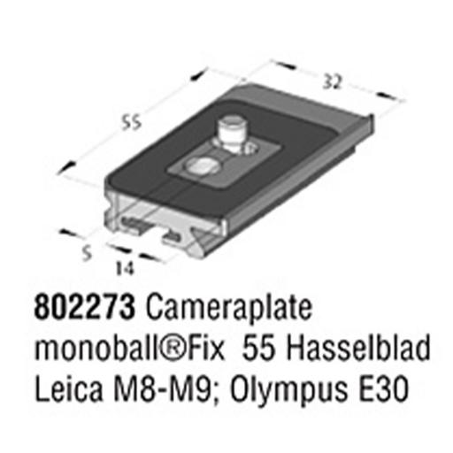 Arca Swiss MonoballFix 55 plate for Hasselblad, Leica M8-M9 and Olympus E30, Long. 55mm x Width. 32mm