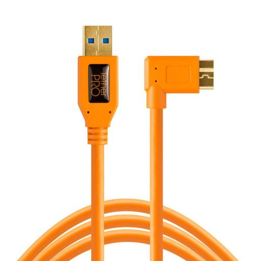 Tether Tools TetherPro USB 3.0 to Micro-B Right Angle Cable Black or Orange