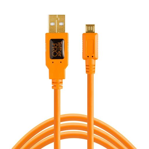 Tether Tools TetherPro USB 2.0 to Micro-B 5-Pin cable Black or Orange