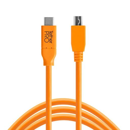 Tether Tools TetherPro USB-C to Mini-B 5-Pin Cable Black or Orange