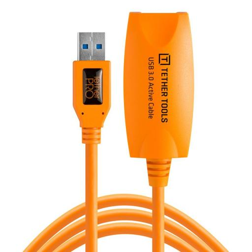 Tether Tools TetherPro USB 3.0 to USB Female Active Extension Cable Black or Orange