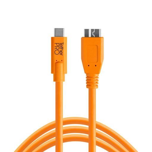 Tether Tools TetherPro USB-C to Micro-B Cable Black or Orange