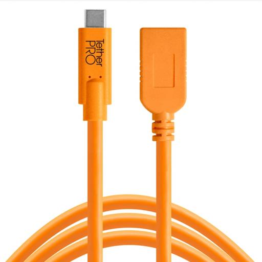 Tether Tools TetherPro USB-C to USB Female Adapter Cable Black or Orange