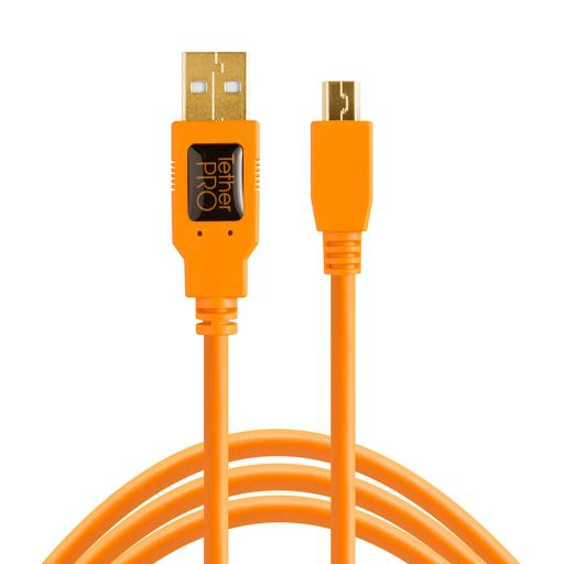 Tether Tools TetherPro USB 2.0 to Mini-B 5-Pin Cable Black or Orange