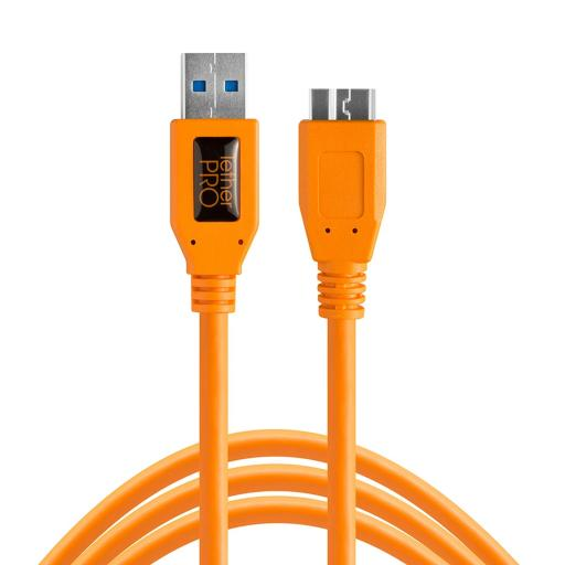 Tether Tools TetherPro USB 3.0 to Micro-B Cable Black or Orange